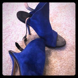 Balenciaga Blue Suede Heels